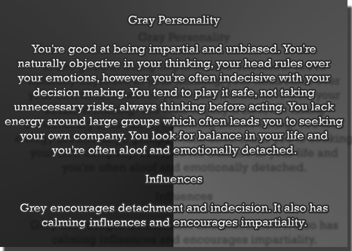 Color Gray Color Psychology Personality Meaning