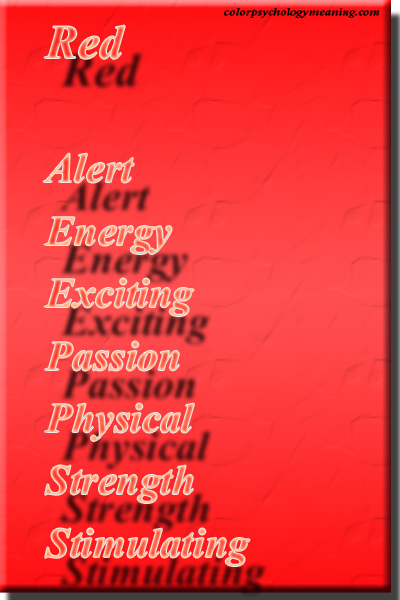 Color red psychology & meaning