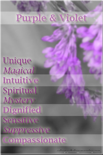 Color Purple Violet Color Psychology Personality Meaning