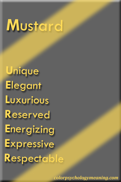 Color Mustard Meaning & Affects