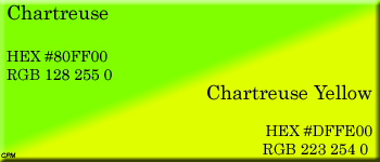 Chartreuse Color HEX HTML Code