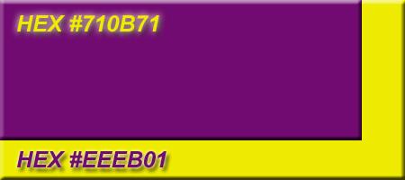 Logo Color Combinations Purple & Yellow