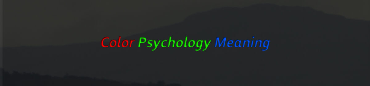 Color Psychology & Personality Meaning
