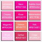 Shades of Pink with HEX & RGB Color Codes