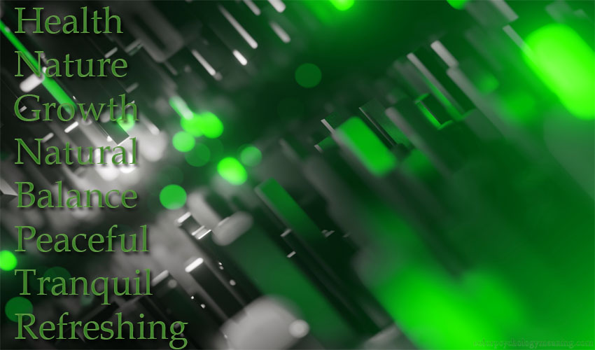 Meaning of the color green.